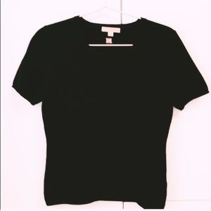 Burberry cashmere short sleeve knit sweater
